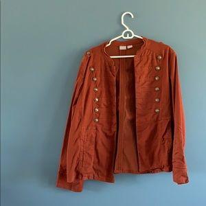 Chico's orange jacket